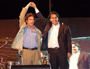 Álvaro Escobar y Marco Enríquez Ominami - foto tomada de www.pensamarco20010.wordpress.com
