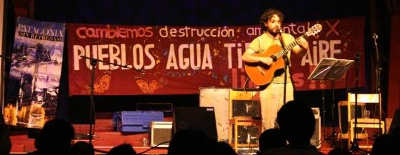 Alonso Núñez en Valdivia, abril de 2009. Foto: Ñuke.