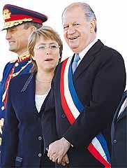 """Ricardo Lagos y Michelle Bachelet, ambos """"socialistas"""""""