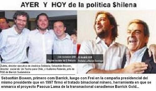 """Sebastian Bowen, Ex- """"Techo para Chile"""" y actual hombre de BARRICK GOLD junto a Eduardo Frei."""
