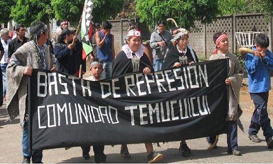 ¡BASTA DE REPRESIÓN AL PUEBLO MAPUCHE!