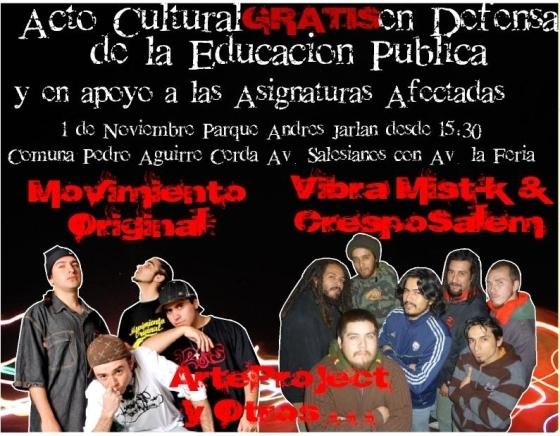 afiche acto 1 de noviembre de 2009
